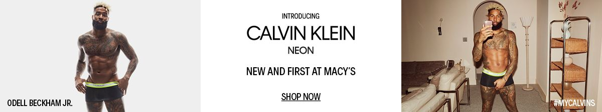 Odell Beckham JR, Introducing Calvin Klein Neon, New and First at Macys, Shop Now