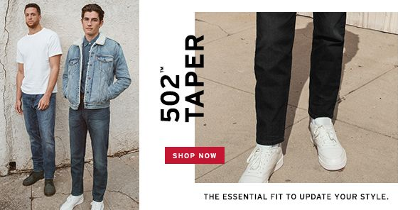 502 Taper, Shop Now, The Essential fit to Update Your Style