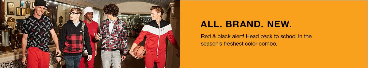 All, Brand, New, Red and black alert! Head back to school in the season's freshest color combo