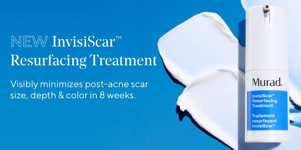 New Invisiscar Resurfacing Treatment, Visibly minimizes post-acne scar size, depth and color in 8 weeks