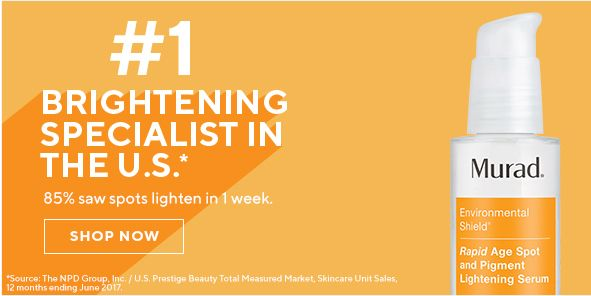 Brightening Specialist in The u,s, 85 precent saw spots lighten in week, Shop Now