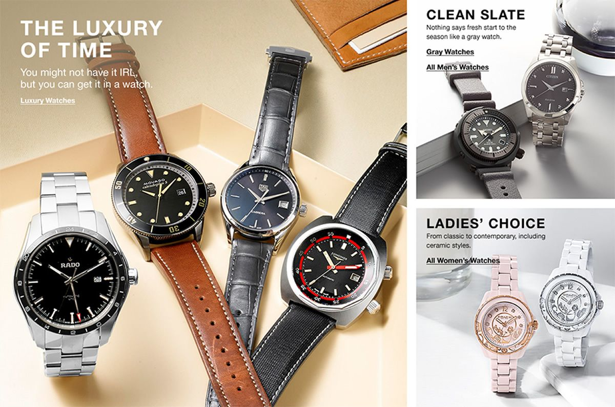 The Luxury of Time, Luxury Watches, Clean Slate, Gray Watches, All Men's Watches, Ladies' Choice, All Women's Watches