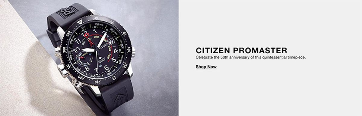 Citizen Promaster, Celebrate the 50th anniversary of this quintessential timepiece, Shop Now