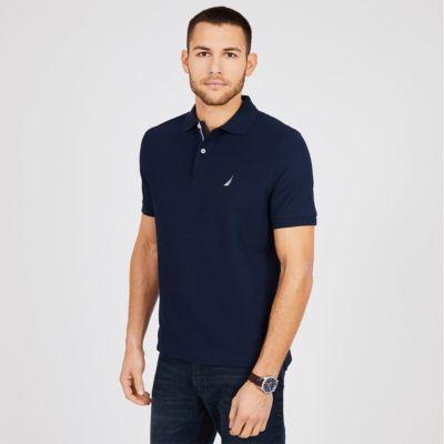 Nautica Mens Short Sleeve Performance Deck Polo Shirt