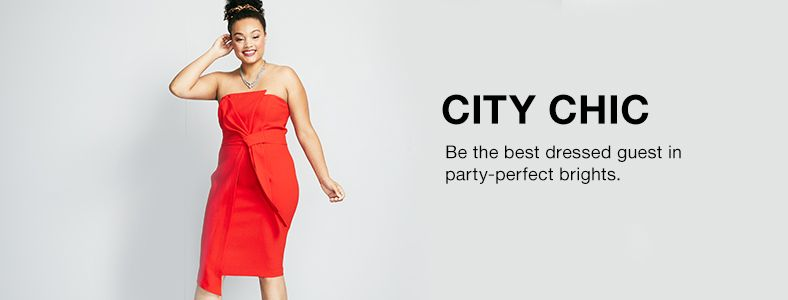 City Chic, Be the best dressed guest in party-perfect brights