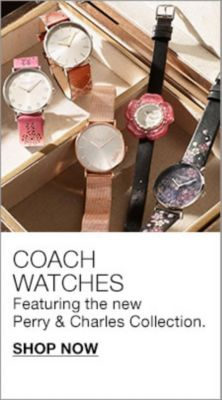 Coach Watches, Featuring the new Perry and Charles Collection, Shop Now