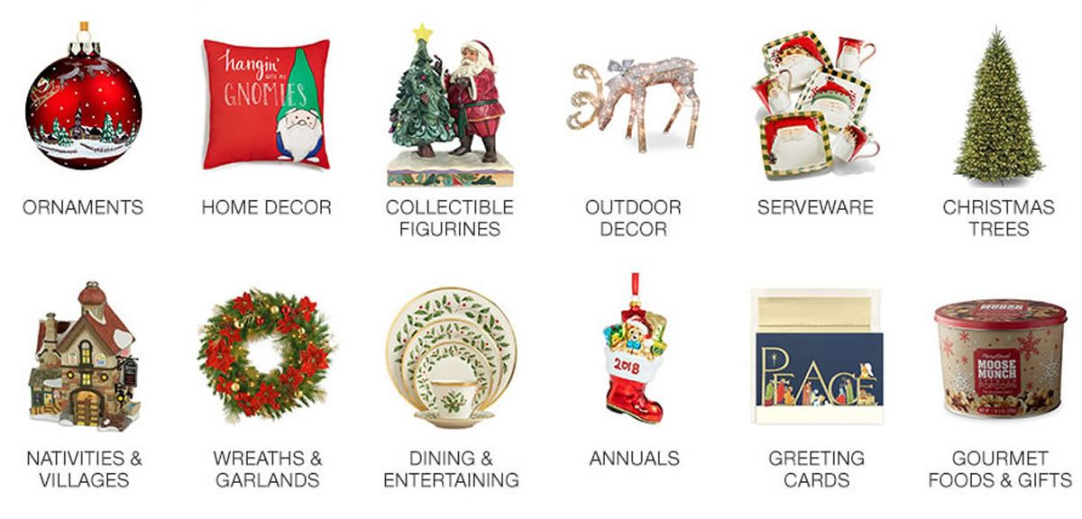 ornaments home decor collectible figurines outdoor decor serveware christmas trees