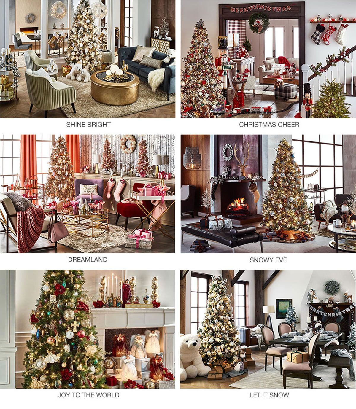 shine bright christmas cheer dreamland snowy eve joy to the world - Christmas Decoration Catalogs