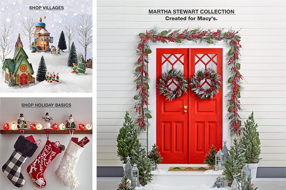 shop villages shop holiday basics martha stewart collection created for macys - Macys Christmas Decorations