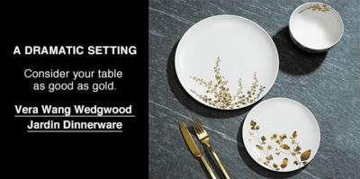 A Dramatic Setting, Consider your table as good as gold, Vera Wang Wedgwood Jardin Dinnerware