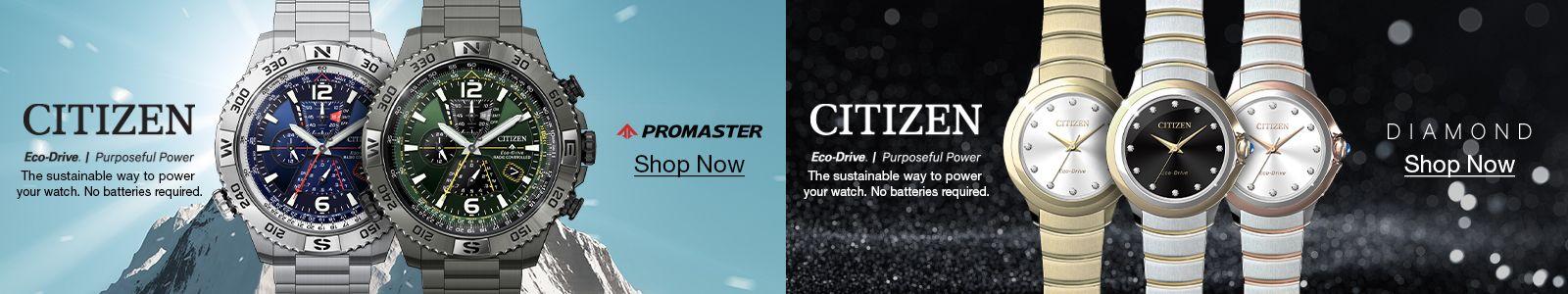 Citizen, Promaster, Shop Now, Citizen, Diamond, Shop Now