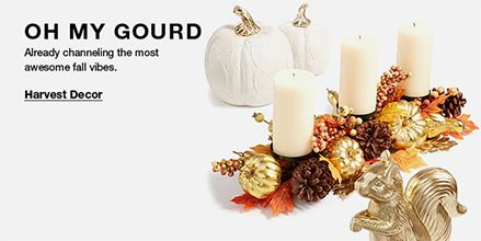 Oh My Gourd, Already channeling the most awesome fall vibes, Harvest Decor