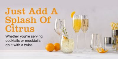 Just Add a Splash of Citrus, Whether you're serving cocktails or mocktails do it with a twist
