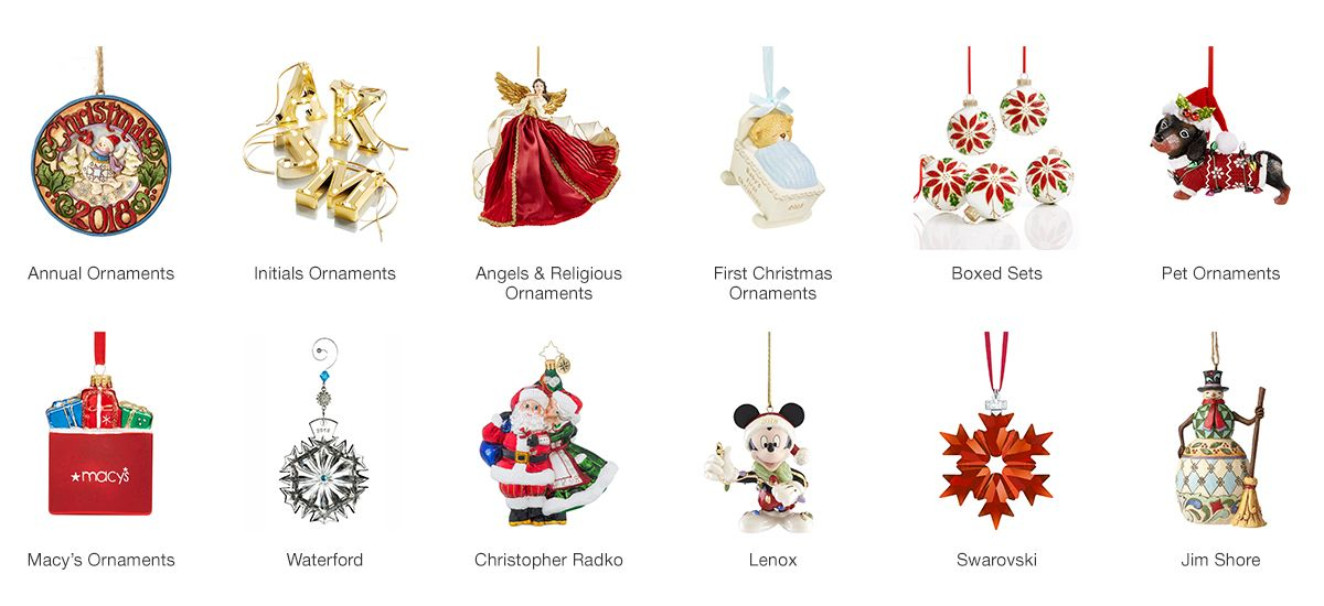 Annual Ornaments, Initials Ornaments, Angels and Religious Ornaments, First Christmas  Ornaments, Boxed - Christmas Ornaments - Macy's