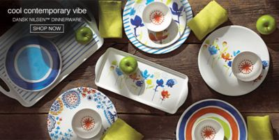 Cool Contemporary vibe, Dansk Nilsen Dinnerware, Shop Now
