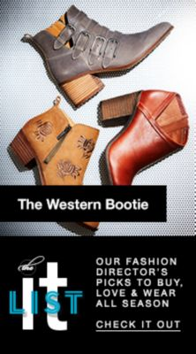 The Western Bootie, The it List, Our Fashion Director's Picks to Buy, Love and Wear all Season, Check it Out