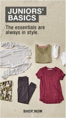 Juniors' Basics, The essentials are always in style, Shop now