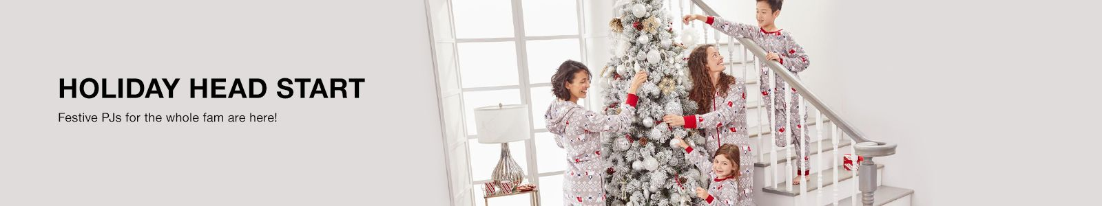 Holiday Head Start, Festive PJs for the Whole fam are here