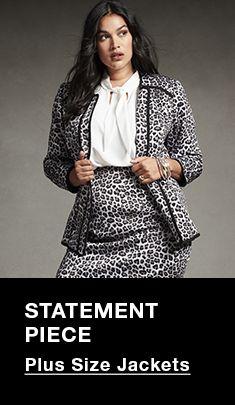 Statement Piece, Plus Size Jackets