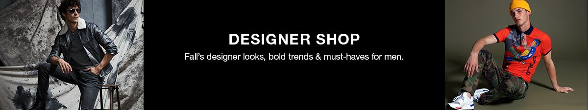 Designer Shop, Fall's designer looks, bold trends and must-haves for men