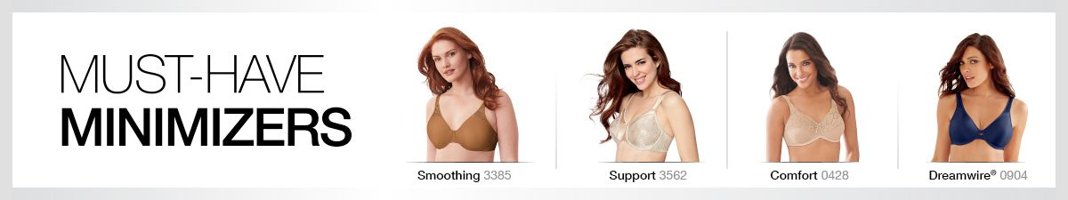 Must-Have Minimizers, Smoothing, Support, Comfort, Dreamwire
