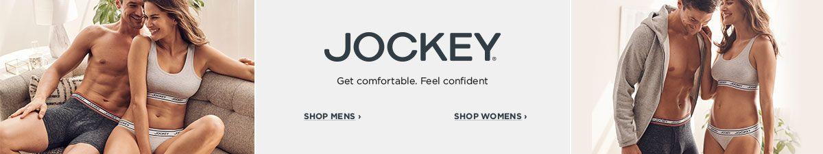 Jockey, Get comfortable, Feel Confident, Shop Mens, Shop Womens