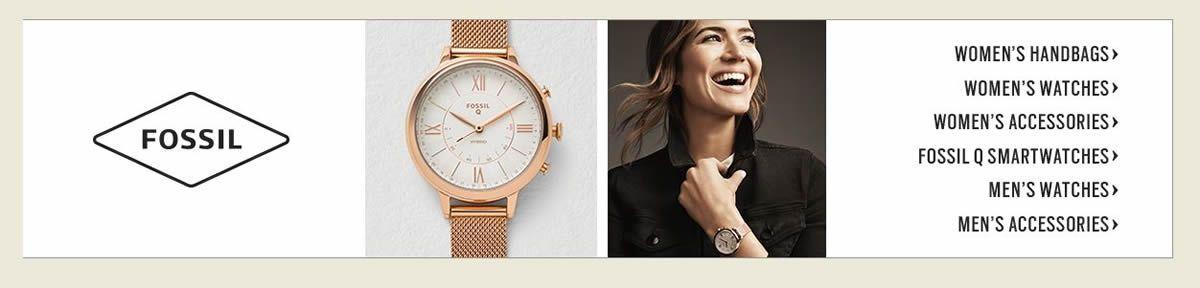 Fossil, Women's Handbags, Women's Watches, Women's Accessories, Fossil Smartwatches, Men's Watches