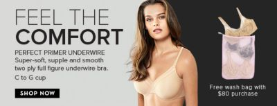 Feel The Comfort, Perfect Primer Underwire Super-soft, Shop Now