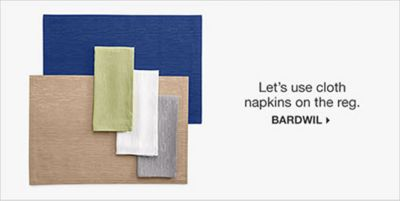 Let's use cloth napkins on the reg, Bardwil