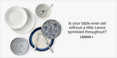 Is your table even set without a little Lenox sprinkled throughout? Lenox