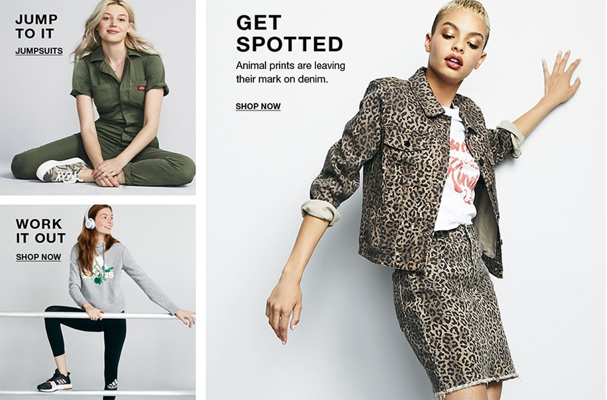 Jump to it, JumpSuits, Work it Out Shop Now, Get Spotted Shop Now