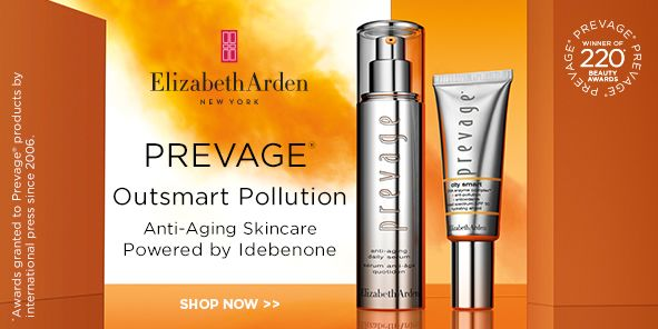 Elizabeth Arden, New York, Prevage, Outsmart Pollution, Anti-Aging Skincare Powered by Idebenone, Shop Now