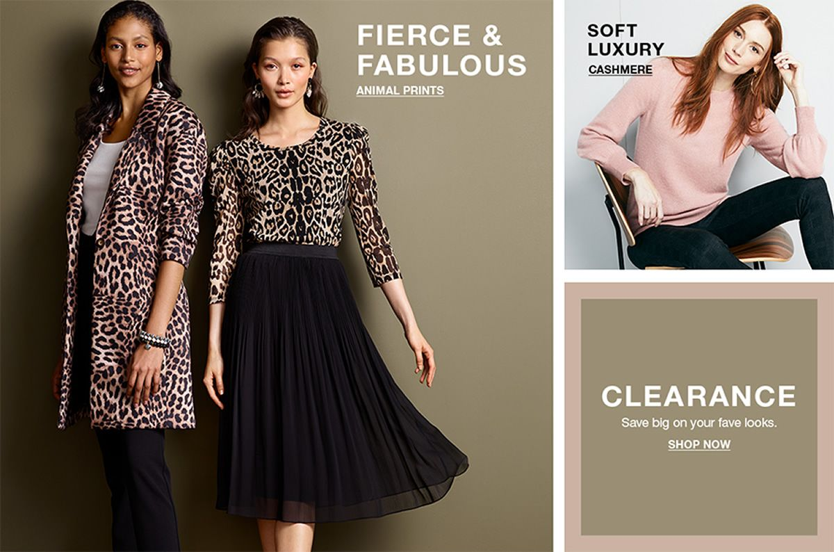 Fierce and Fabulous, Animal Prints, Soft Luxury, Cashmere, Clearance, Shop Now