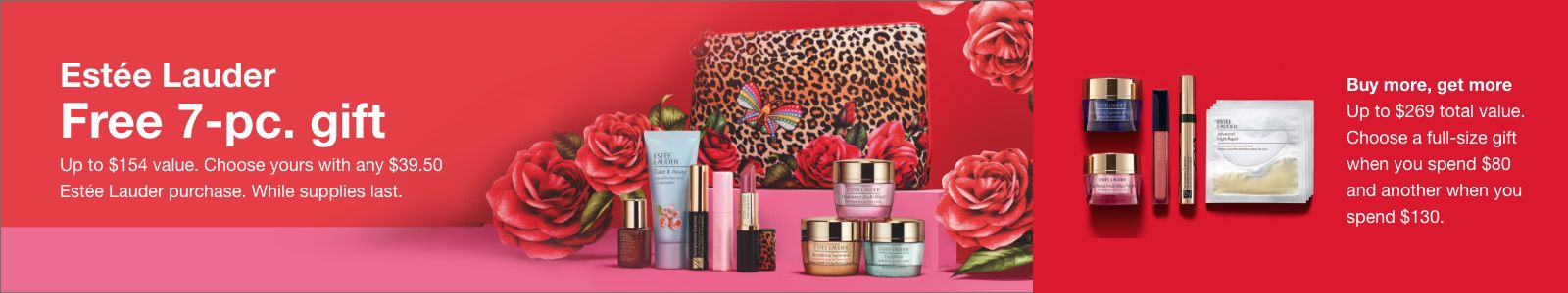 Estee Lauder, Free 7-pc, gift, Buy more, get more