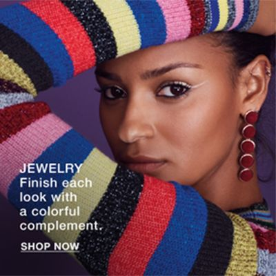 Jewelry finish each looj with a colorful complement, Shop now