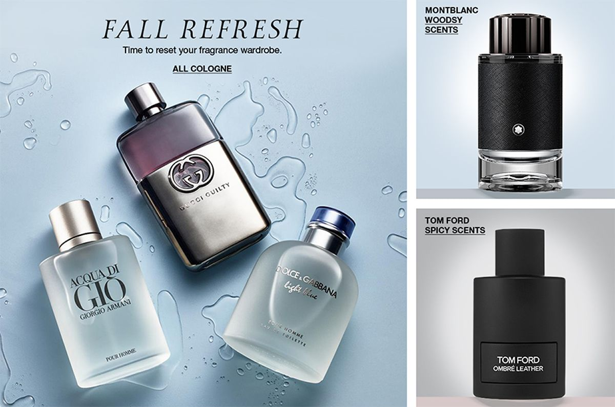 Fall Refresh All Cologne, Montblanc Woodsy Scents, Tom Ford Spicy Scents