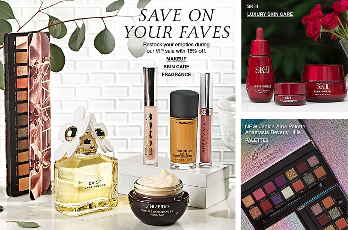Save on Your Faves Makeup Skincare Fragrance, Sk-II Luxury Skin Care, New Jackie Aina Palette Anastasia Beverly Hills Palettes