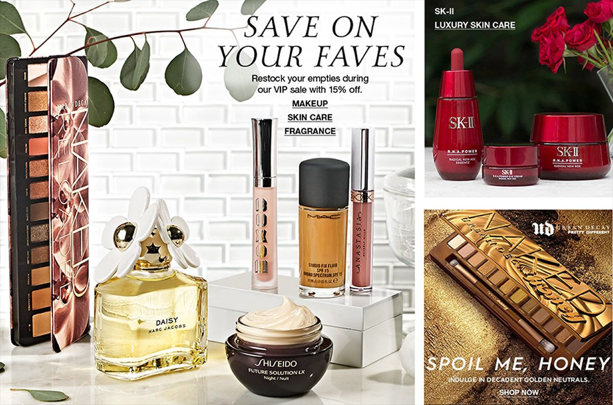 Save on Your Faves Makeup Skincare Fragrance, Sk-II Luxury Skin Care, Urban Decay Spoil Me, Honey, Shop Now