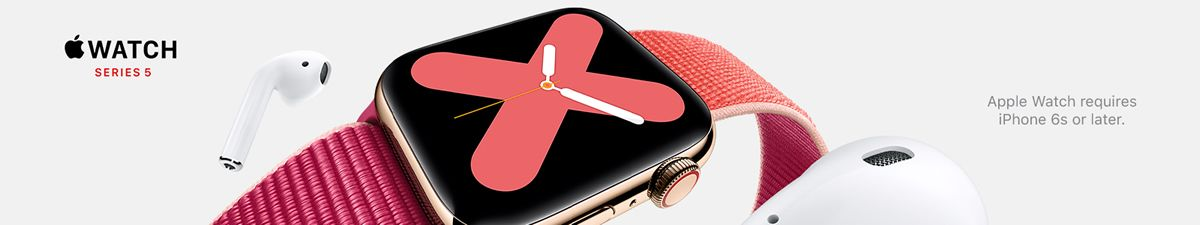 Watch Series 5, Apple Watch requires iphone 6s or later