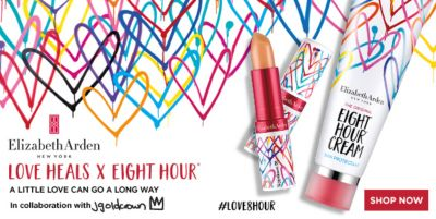 Elizabeth Arden, New York, Love Heals x Eight Hour, A Little Love Can go a Long Way, Shop Now