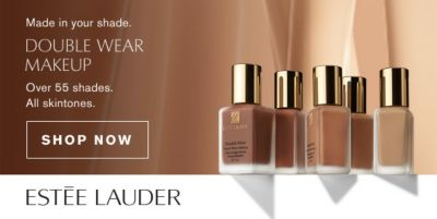 Made in your shade, Double Wear Makeup, Over 55 shades, All skintones, Shop Now, Estee Lauder
