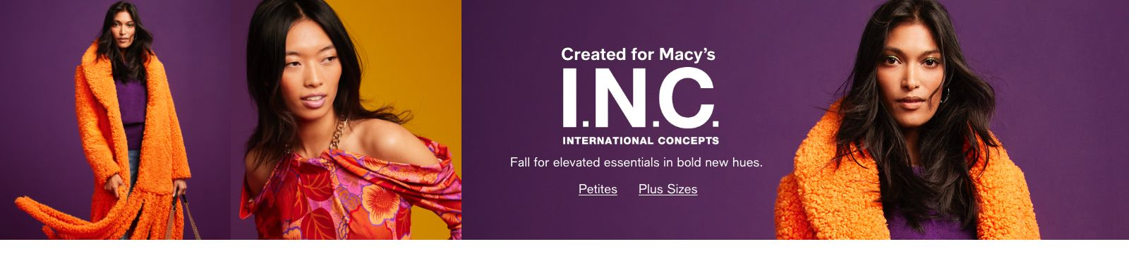 Created for Macy's, INC, International Concepts, Fall for elevated essentials in bold new hues, Petites, Plus Sizes
