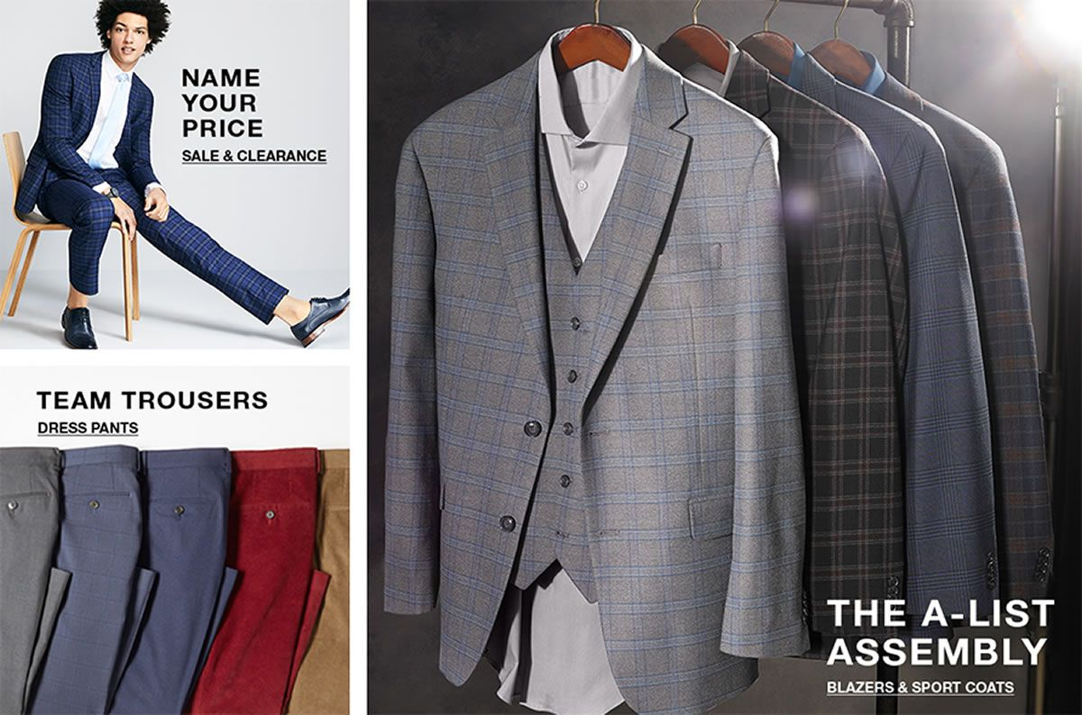 Name Your Price, Sale and Clearance, Team Trousers, Dress Pants, The a-List Assembly, Blazers and Sport Coats