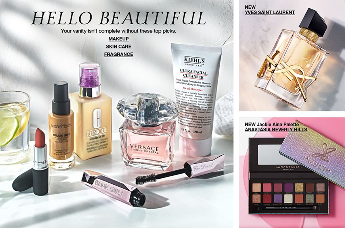 Hello Beautiful, Your vanity isn't complete without these top picks, Makeup, Skin Care, Fragrance, New Yves Saint Laurent, New Jackie Aina Palette, Anastasia Beverly Hills