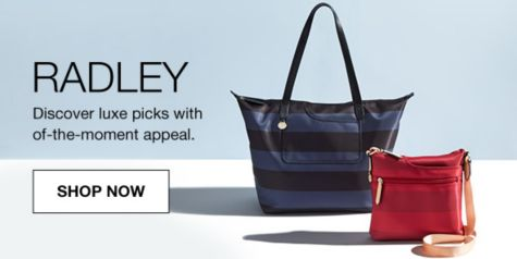 Radley Discover Luxe Picks With Of The Moment Eal Now