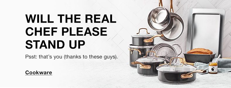 Will The Real Chef Please Stand up, Cookware
