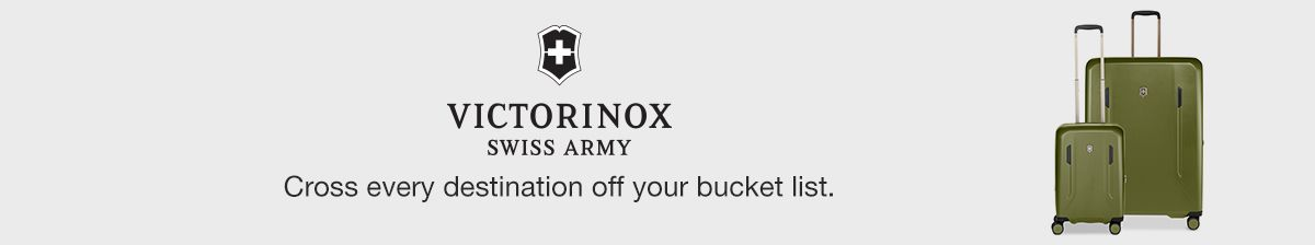 Victorinox, Swiss Army, Cross every destination off your bucket list