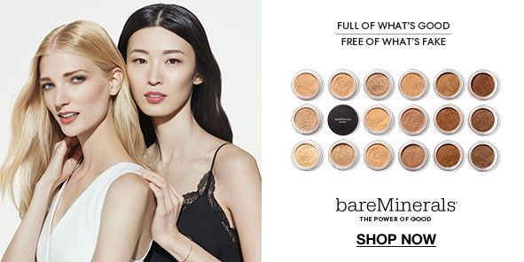 Full of What's Good, Free of What's Fake, bareminerals, the Power of Good, Shop Now