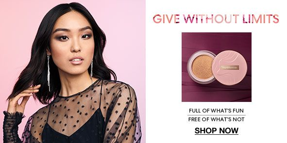 Give Without Limits, Full of What's fun, Free of What's not, Shop Now