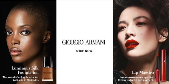 Luminous Silk Foundation, The award winning foundation, Availble in 30 shades, Giorgio Armani, Shop Now, Lip Maestro, Velvet matte liquid lip color, Cream texture, High pigment